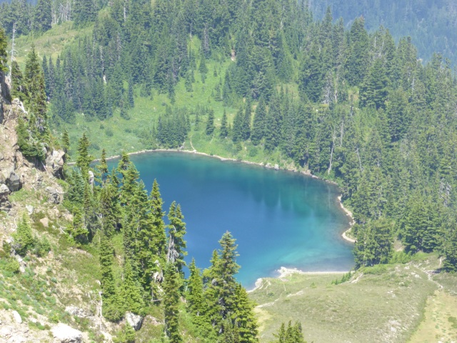 Looking down on the lake
